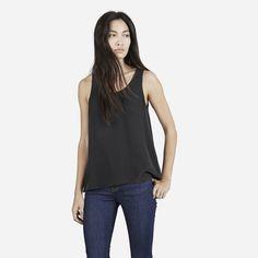 NWOT Everlane Silk Tank Beautiful quality of silk. Hem slightly higher in front. Never worn. Everlane Tops Tank Tops