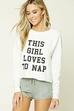 Love To Nap Pyjama Sweatshirt Pajamas For Teens, Cute Pajamas, Pajamas Women, Comfy Pajamas, Lazy Day Outfits, Cute Outfits, Pajama Day, Cute Sleepwear, Womens Pyjama Sets