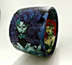 Poison Ivy Upcycled Comic Book Bracelet The by Customcomix on Etsy, $25.00