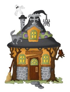 CC4X8 008 Witch Hazel's House 4x8 Cottage Cutz Die Cute Halloween | eBay
