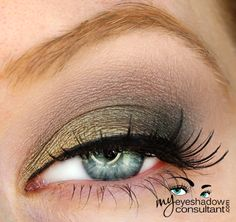 MAC eyeshadows used: Sumptuous Olive (inner third of lid) Greensmoke (middle of lid) Bows & Curtseys LE (outer third of lid) Botanical LE & Malt (crease) – you can omit 'Botanical' here Blanc Type (blend)