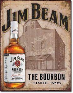 Jim Beam Kentucky Straight Bourbon Whisky Man Cave Fridge Magnet