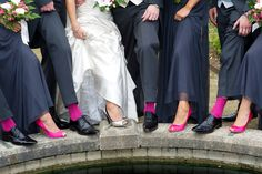 Bridesmaids shoes and socks to match Brides Phalaenopsis Orchids and Maids Calla Lillies with Freesia