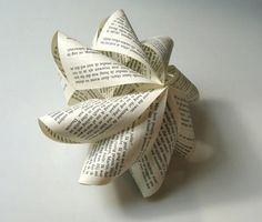 Elle Decoration SA: Guest blog: Book Art!  These delicate decorations are some of Michael Bom's handiwork too!