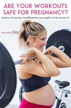 Are your Workouts Safe For Pregnancy? A guide to exercise modifications for fitness during pregnancy Third Pregnancy, Happy Pregnancy, Pregnancy Guide, Pregnancy Workout, Pcos Pregnancy, Pregnancy Fitness, Pregnancy Books, Ectopic Pregnancy, Pregnancy Pillow