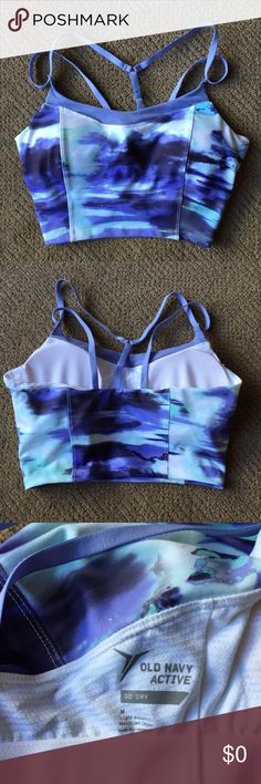 "Free Gift! With Purchase of $20+ Super pretty ""watercolor"" sports bra from Old Navy! (Only worn once). Size Medium. Would definitely fit a 34C -36C. (I'm a 36C & this fit just a tad too snug for my liking, but still wearable!) Just specify that you want this item.   Sorry not for sale! But will include when you purchase $20.00+ from my closet! (Excludes shipping & handling).🌻 Old Navy Intimates & Sleepwear Bras"