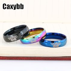 Gaxybb stainless steel 3 colors Pokemon Going Jewelry Adjustable Rings For Women Men Gifts Genie Turtle Pikachu rings -in Rings from Jewelry & Accessories on Aliexpress.com | Alibaba Group