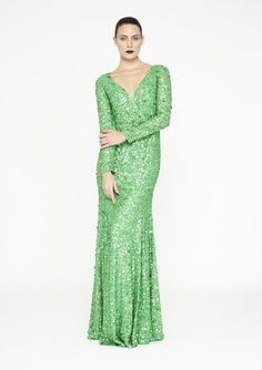 Rachel Gilbert - Emerald Green Gown Emerald Green Gown 9bc5aa039a63