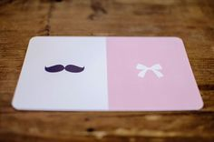 Mustaches and Bows themed baby shower invite...would be cute gender reveal invites