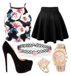 """""""Untitled #1121"""" by pinkunicorn007 ❤ liked on Polyvore featuring Accessorize, Christian Louboutin, Michael Kors, StyleRocks, women's clothing, women's fashion, women, female, woman and misses"""