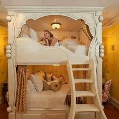 Beautiful bunk bed design!