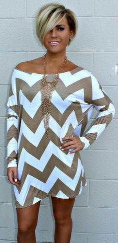 Lovely Zig Zag Print Summer Mid Dress Outfit
