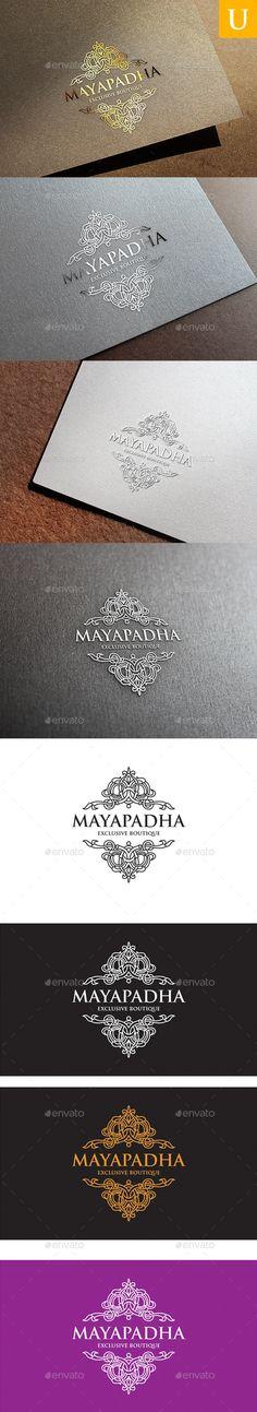 Mayapadha Boutique Logo Template #design #logotype Download: http://graphicriver.net/item/mayapadha-boutique-logo/10640531?ref=ksioks