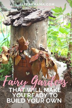 Fairy gardens are so whimsical and fun! If you are needing that creative push to create a sweet, miniature garden of your own, check out these 10 fairy gardens. They are sure to spark your green thumb! #lifeasmama #gardening #garden #miniaturegarden #fairygarden Summer Activities For Kids, Fun Crafts For Kids, Summer Kids, Projects For Kids, Fun Activities, Backyard Obstacle Course, Lifestyle Group, Fairy Gardens, Florals