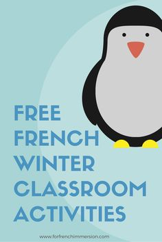 Looking for printable items to add to your winter-themed resources? Check out this list of FREE French winter classroom activities! French Teaching Resources, Teaching French, Teaching Ideas, French Teacher, Learning Resources, Winter Activities, Classroom Activities, Preschool Winter, Free In French