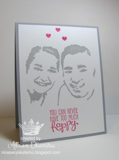 nice people STAMP!: Custom, hand carved portrait stamp using the UNDEFINED Kit from Stampin' Up! by Allison Okamitsu