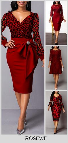 Best Fashion Dresses Part 5 Office Dresses For Women, Swag Outfits For Girls, Classy Outfits, Cute Outfits, Bodycon Fashion, Women's Fashion Dresses, Girl Fashion, Fashion Looks, Womens Fashion