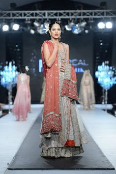 PFDC L'Oreal Paris Bridal Week 2012: Ivory and coral by Saai