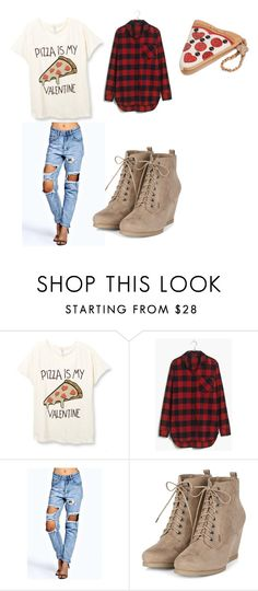 """Pizza love"" by calliew2332 ❤ liked on Polyvore featuring Madewell, Boohoo and Betsey Johnson"