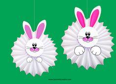 Addobbi Pasqua con la carta - Conigli fisarmonica