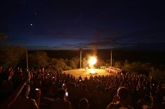 June 2015. Worth Ranch Summer Camp campfire.