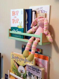 Book - 33 Ikea Hacks Can do . → DIY // ikea spice racks painted for nursery room bookshelves Ikea Hacks, Ikea Hack Kids, Diy Hacks, Bekvam Ikea, Box Ikea, Ikea Book, Ikea Spice Rack, Spice Racks, Deco Kids