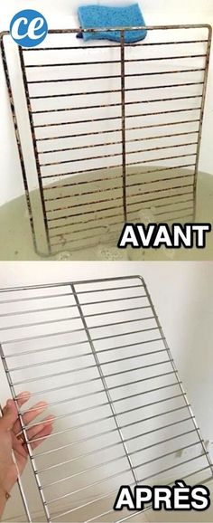 Looking for a tip to easily clean the oven rack? Here is the t … - Home & DIY Industrial Door, Industrial Lighting, Home Organisation, Organization Hacks, Diy Cleaning Products, Cleaning Hacks, Simple House, Clean House, Simply Life
