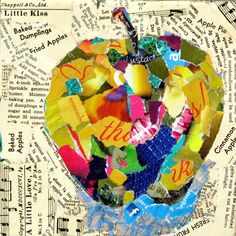 colLAGE FINE ART | Nancy Standlee Fine Art: Mixed Media Torn Paper Collage Painting ...