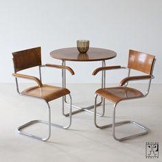 Round tubular steel table in Bauhaus Design, 1930s - Image 1