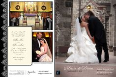 Artwork from Marie and Brian's finished wedding film. Custom design services come standard with all of our wedding videography packages. Photos by Olivier Kpognon Photography.