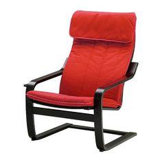 POÄNG Fauteuil, brun noir, Ransta rouge ikea 80e (+ repose pied)