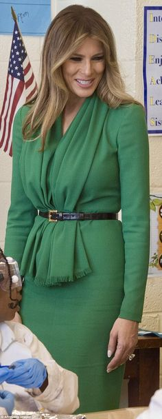 First Lady Melania Trump in Herve Pierre