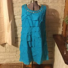 Size 18 Dress Size 18 Dress Barn turquoise dress. Never been worn. Dress Barn Dresses