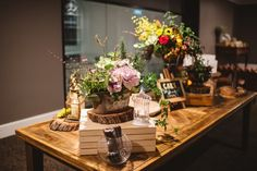 Styling: Kate Dawes Flower Design Industrial Transcontinental Hotel Wedding | Photography by Trent and Jessie