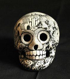 Clay Skull Mexico by Teyacapan, via Flickr