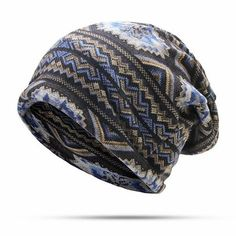 bfc18ee03a9 Men Women Waves Print Beanies Hat Casual Windproof Warm Multi-function  Scarf Bonnet Hats is hot sale on Newchic Mobile.
