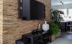 Wooden Wall Design Brut wall panels used to create this rustic but modern feature/media wall Timber Wall Panels, Timber Walls, Wood Panel Walls, Wooden Walls, Wood Paneling, Wooden Wall Design, Wall Panel Design, Wooden Cladding, Wall Cladding