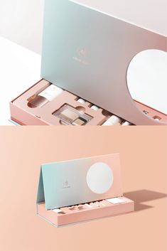 Cosmetic Kit on Behance gift packaging Cosmetic Kit Skincare Packaging, Cosmetic Packaging, Beauty Packaging, Box Packaging, Coffee Packaging, Product Packaging, Cosmetic Kit, Cosmetic Design, Makeup Package
