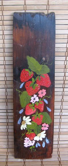 Vintage Hand Painted Wall Hanging