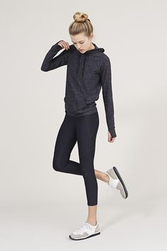 The 3/4 Warmup Leggings in Charcoal from Outdoor Voices. Activewear. Click on…