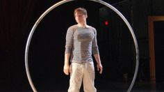 Very cool routine done with a hoop.  I'm guessing this guy is headed to the Cirque