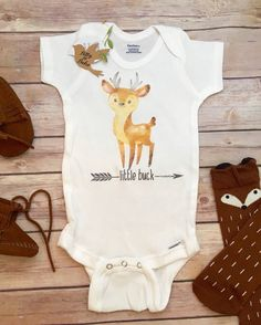 Little Buck Onesie®, Baby Boy Clothes, Baby Shower Gift, Deer Onesie, Hunting Onesie, Cute Baby Onesies, Country Baby Onesie, Little Brother