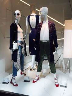 ZARA window display in Zlote Tarasy Mall, in Warsaw- Poland
