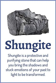 Top 3 Benefits of Shungite: Purifying your aura and environment from negative energies Clearing stuck emotional patterns Strengthening your emotional and energetic boundaries Learn about healing crystals at Gems And Minerals, Crystals Minerals, Crystals And Gemstones, Stones And Crystals, Buy Crystals, Chakra Crystals, Gem Stones, Black Crystals, Crystal Magic