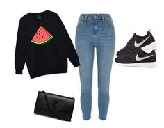 """""""lazy day"""" by tatyjadon on Polyvore featuring NIKE and Yves Saint Laurent"""