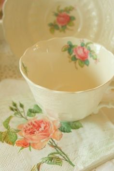 .My mother's china - my aunts' too - and now it's come to me.  Billingsley Rose by Spode