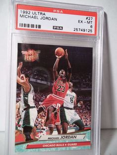 1992 Fleer Ultra Michael Jordan PSA EX-MT 6 Basketball Card #169 NBA  #ChicagoBulls