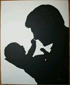 father and baby Silhouette art Baby Silhouette, Silhouette Artist, Silhouette Projects, Silhouette Drawings, Fathers Day Quotes, Fathers Day Crafts, Pencil Art Drawings, Art Drawings Sketches, Shadow Art