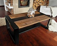 Handmade Rustic Reclaimed Wood & Black Steel от DesignInFocus