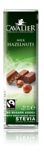Suikervrije repen met stevia-zoetstof en fair trade chocolade van Cavalier
